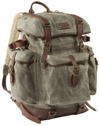 L.L. Bean L.L.Bean Waxed-Canvas Continental Rucksack