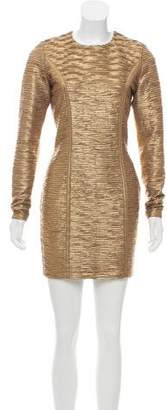 Torn By Ronny Kobo Metallic Mini Dress w/ Tags