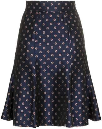 N. Duo flower and polka dot printed high-waisted skirt