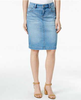 Style & Co Denim Skirt, Created for Macy's $49.50 thestylecure.com