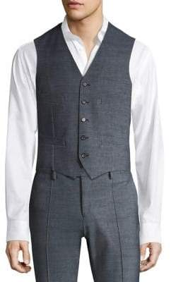 Saks Fifth Avenue x Traiano COLLECTION Single-Breasted Horn Button Vest
