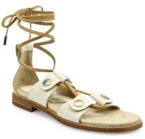 Rag & Bone City Leather Lace-Up Sandals
