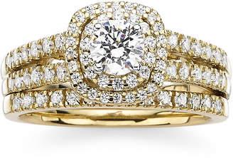 MODERN BRIDE Modern Bride Signature 1 CT. T.W. Diamond 14K Yellow Gold Bridal Ring Set