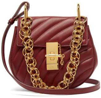 Chloé Drew Bijou Mini Leather Cross Body Bag - Womens - Burgundy