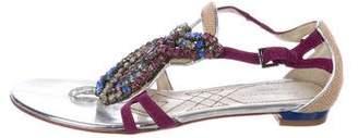Alberta Ferretti Embellished Thong Sandals