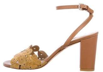 Stuart Weitzman Chain-Link Ankle Strap Sandals