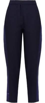 Carven Two-Toned Crepe Slim-Leg Pants