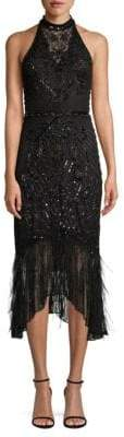 Parker Black Aster Sequined Midi Dress