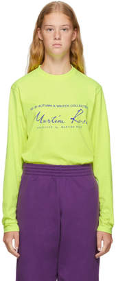 Martine Rose Yellow Classic Long Sleeve T-Shirt