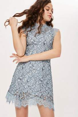 Topshop Lace Mini Flare Dress