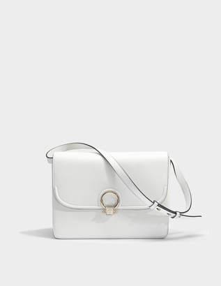 Versace DV One Shoulder Bag in White Calfskin