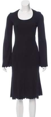 Fendi Embroidered Wool-Blend Dress