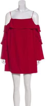 Nicholas Cold-Shoulder Mini Dress