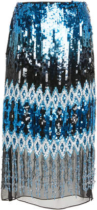 Prabal Gurung Kyla Embroidered Pencil Skirt