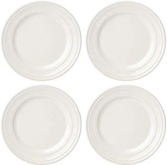 Kate Spade (ケイト スペード ニューヨーク) - kate spade new york Set of 4 Sculpt Stripe Cream Salad/Accent Plates