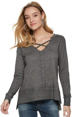 Rock & Republic Women's Studded French Terry Sweatshirt