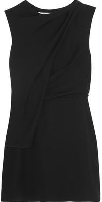 McQ Alexander McQueen - Draped Crepe Mini Dress - Black $465 thestylecure.com