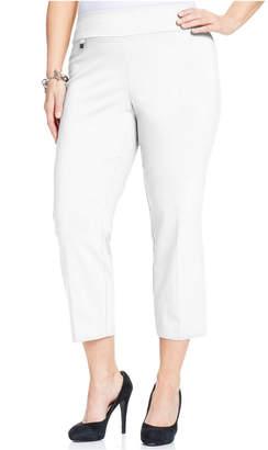 Alfani Plus Size Pull-On Capri Pants