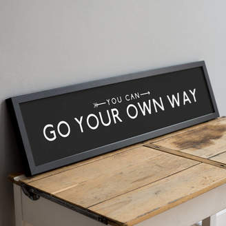 Your Own The Drifting Bear Co 'Go Way' Positive Quote Bus Blind Print