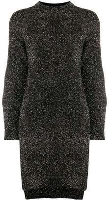 Nude sheen knitted dress