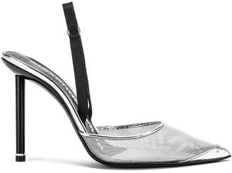 Alexander Wang Alix Mesh Heel in Silver | FWRD