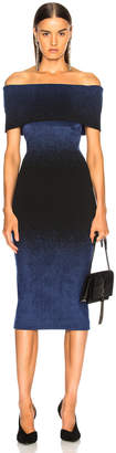 Roland Mouret Bardot Degrade Velvet Knit Dress