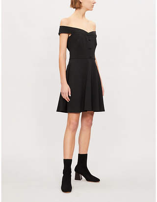 Claudie Pierlot Relove off-the-shoulder crepe dress