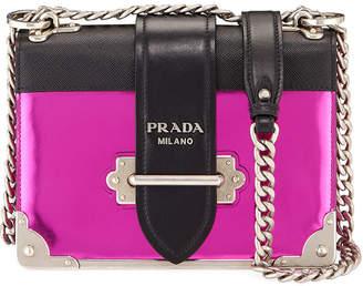 c07189d945c4 Prada Vitello Saffiano Cahier Metallic Leather Shoulder Bag