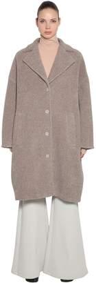 MM6 MAISON MARGIELA Oversized Wool Terrycloth Long Coat