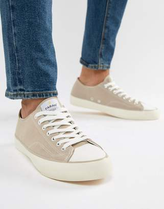 Farah Percy Suede Sneakers in Stone