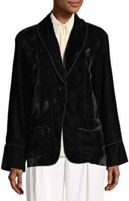 Max Studio Velvet Shawl-Collar Blazer Jacket