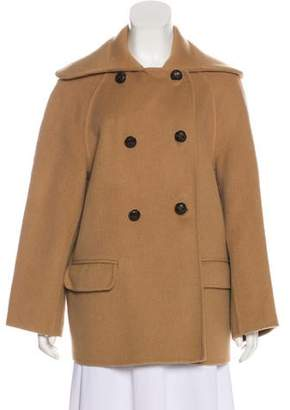 Alexander McQueen Double-Breasted Camel Coat