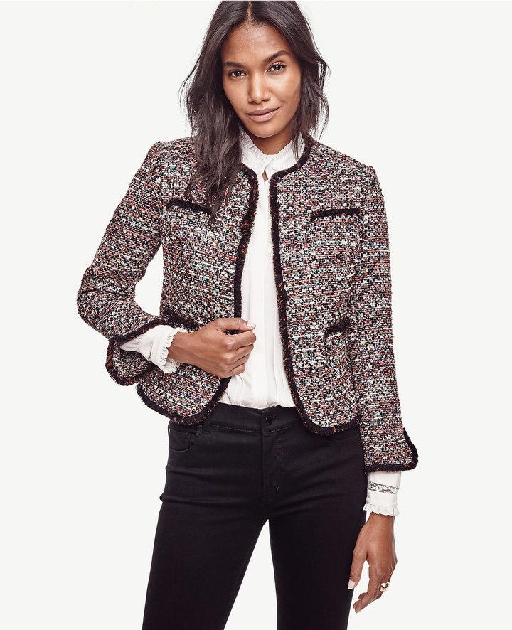 Ann TaylorPetite Sequin Tweed Jacket