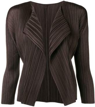 Pleats Please Issey Miyake pleated asymmetric jacket