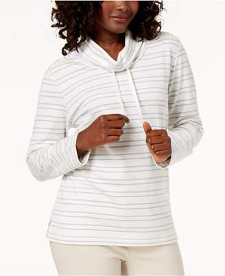 Karen Scott Petite Funnel-Neck Sweatshirt, Created for Macy's