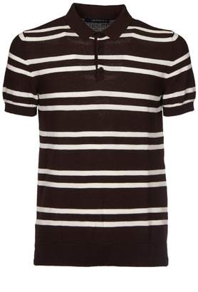 Jeordie's Striped Pattern Polo Shirt