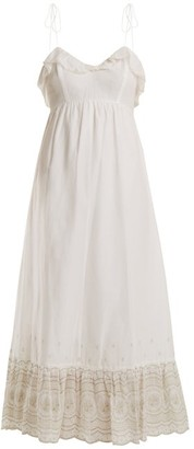 Athena Procopiou - Sunday Morning Lace Trimmed Maxi Dress - Womens - Ivory