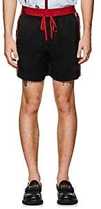 Gucci Men's Logo Tech-Twill Shorts - Black