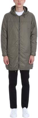 Mauro Grifoni Long Green Nylon Padded Jacket
