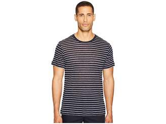 ATM Anthony Thomas Melillo Striped Linen Jersey Oversized Crew Men's T Shirt