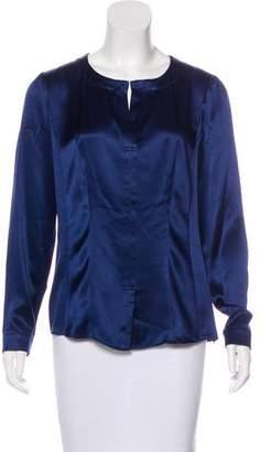 Lafayette 148 Loose Fit Silk Blouse