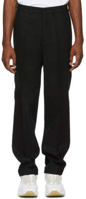 Ami Alexandre Mattiussi Black Wool Formal Trousers