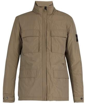 Stone Island High Neck Technical Jacket - Mens - Khaki