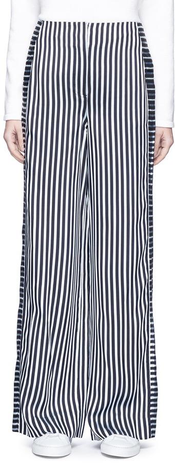 Elizabeth And JamesElizabeth and James 'Jones' contrast satin stripe wide leg pants