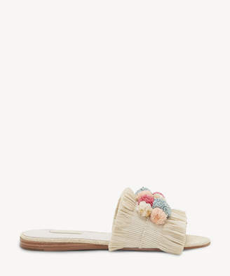 Louise et Cie Women's Arthya Rafia Slides Nat/pastel Combo Size 6 From Sole Society