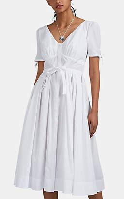 Zac Posen Women's Slub Voile A-Line Dress - White