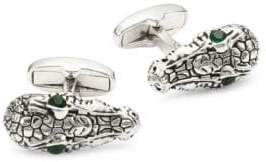 Paul Smith Crocodile Head Silvertone Cufflinks