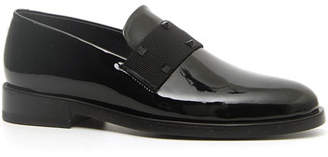 Valentino Men's Rockstud Patent Leather Tuxedo Loafers