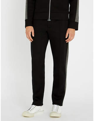 Helmut Lang Contrast relaxed-fit tapered neoprene jogging bottoms