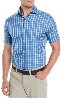 Peter Millar Men's Crown Soft Adrian Grand Tattersall Short-Sleeve Sport Shirt